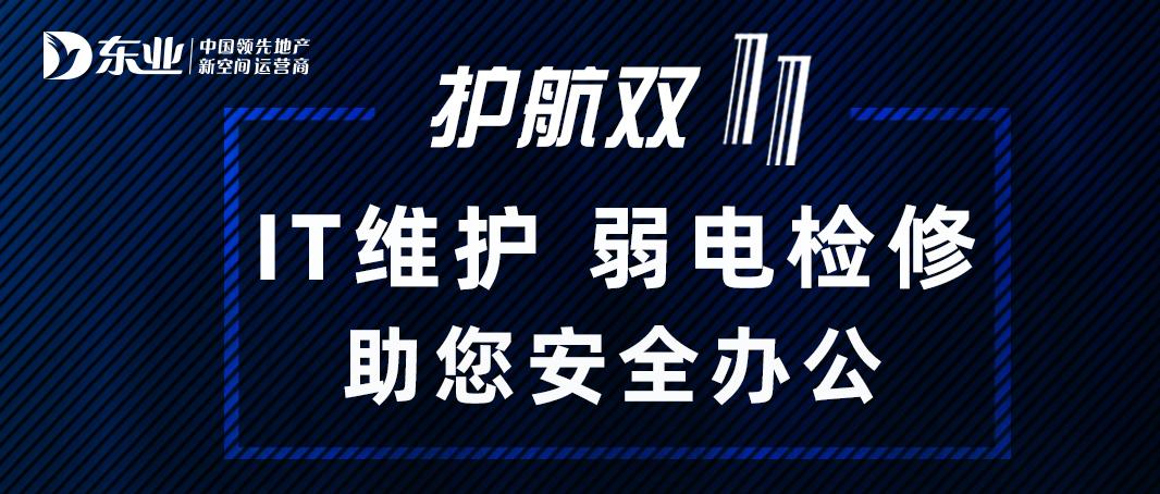 护航双十一,IT维护、弱电检修,东业助您办公无忧!